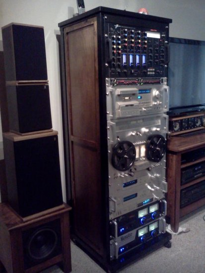 Custom built rack for some of my Pioneer equipment
