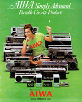 Aiwa Portable Cassette Products 1982