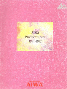 Aiwa Products 1991-1992