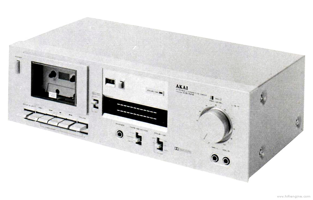 Akai Cs-m4 - Manual - Stereo Cassette Deck