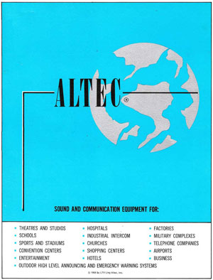 Altec Lansing Sound And Communication Equipment