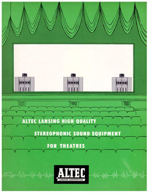 Altec Lansing Stereophonic Sound Equipment For Theatres