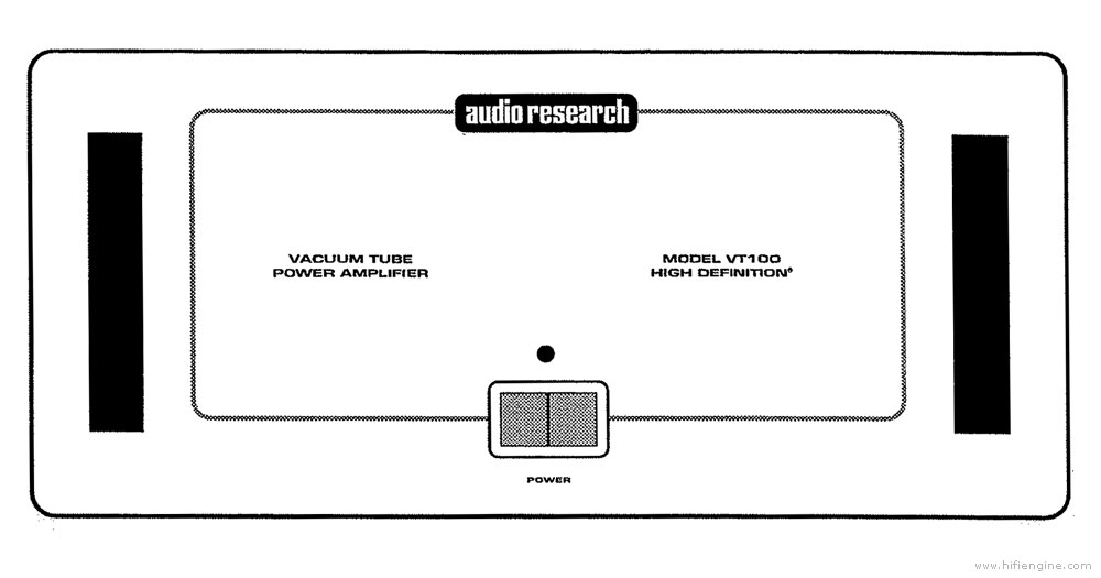 audio research vt-100 - stereo power amplifier