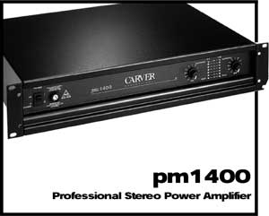 Carver PM-1400 - Manual - Professional Stereo Power