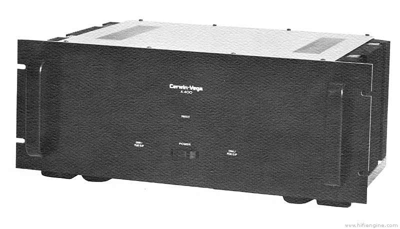cerwin vega a-400 - manual - stereo power amplifier