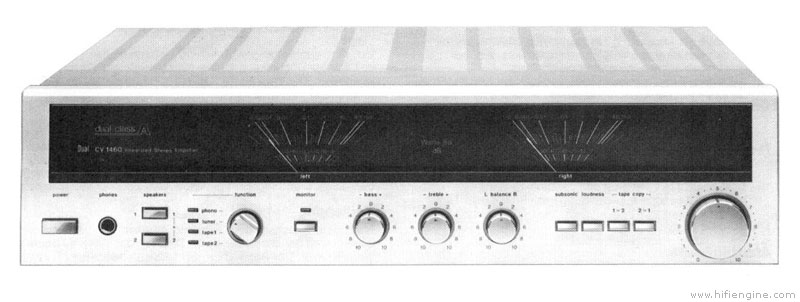 dual cv 1460 - manual - stereo integrated amplifier