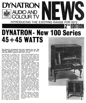 Dynatron Audio And Colour TV News