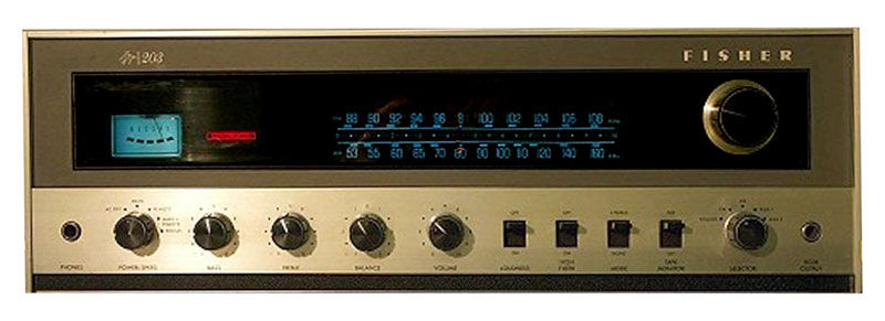 fisher 203 - manual - stereo receiver