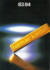 Harman Kardon Products 1983-1984