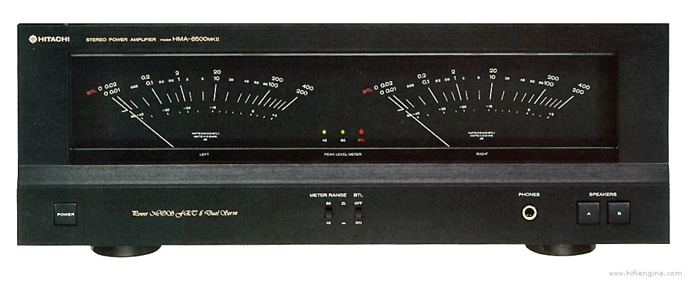 hitachi hma 8500 manual stereo power amplifier hifi engine. Black Bedroom Furniture Sets. Home Design Ideas