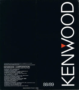 Kenwood Audio Components 1988-1989