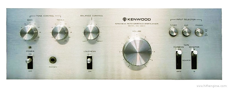 Kenwood Ka-3300 - Manual - Stereo Integrated Amplifier