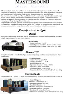 Mastersound Amplifiers 2011