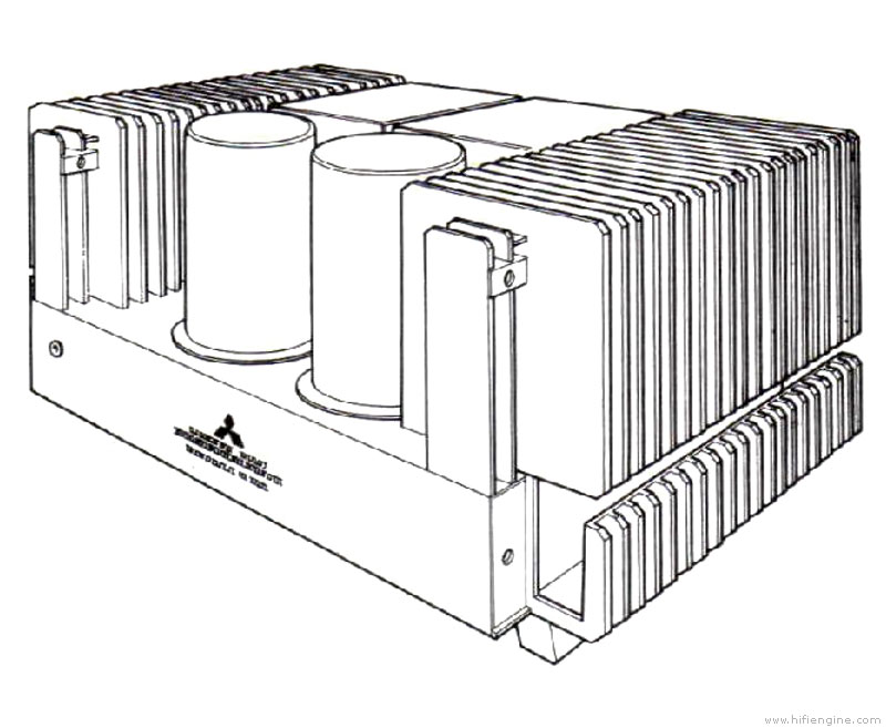 mitsubishi da-a10 - manual - stereo power amplifier
