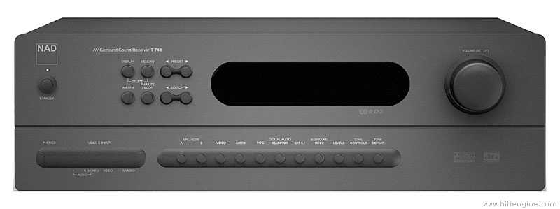 nad t 743 manual product user guide instruction u2022 rh testdpc co Nad Power Amplifier Nad Power Amplifier