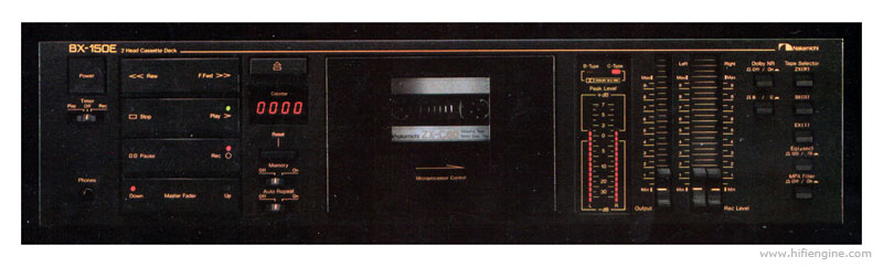 Nakamichi bx 150 manual two head stereo cassette deck for Balcony noise reduction