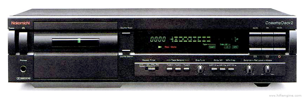 Nakamichi Cassette Deck 2 Manual Two Head Stereo