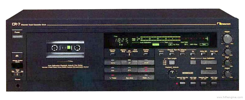 Nakamichi Cr 7 Manual Three Head Stereo Cassette Deck