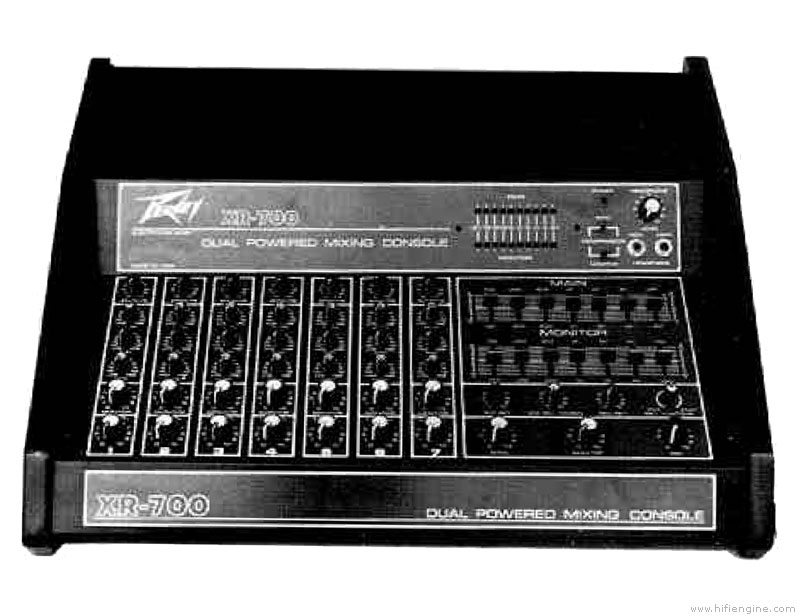 peavey xr 700 manual dual powered mixing console hifi engine rh hifiengine com Peavey XR 600C Mixer Amp Peavey XR 400 Mixing Amp