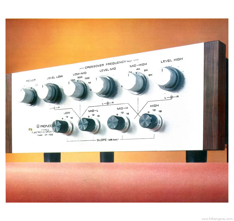 Pioneer SF-700 - Manual - Stereo Electronic Crossover - HiFi