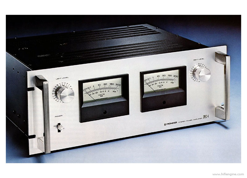 pioneer spec-4 - manual - stereo power amplifier