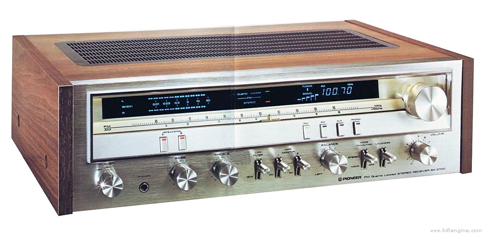 Pioneer SX-3700 - Manual - AM/FM Stereo Receiver - HiFi Engine