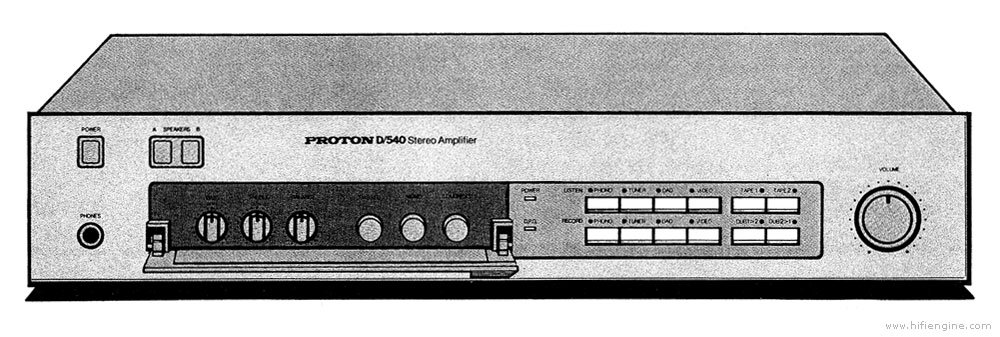 Proton D540 - Manual - Stereo Integrated Amplifier - HiFi Engine