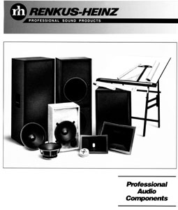 Renkus-Heinz Professional Audio Components 1989