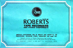 Roberts Electronics Tape Recorders and Stereo Components