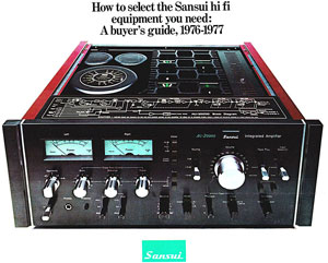 Sansui HiFi Buyers Guide