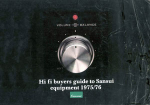 Sansui HiFi Buyers Guide 1975-1976