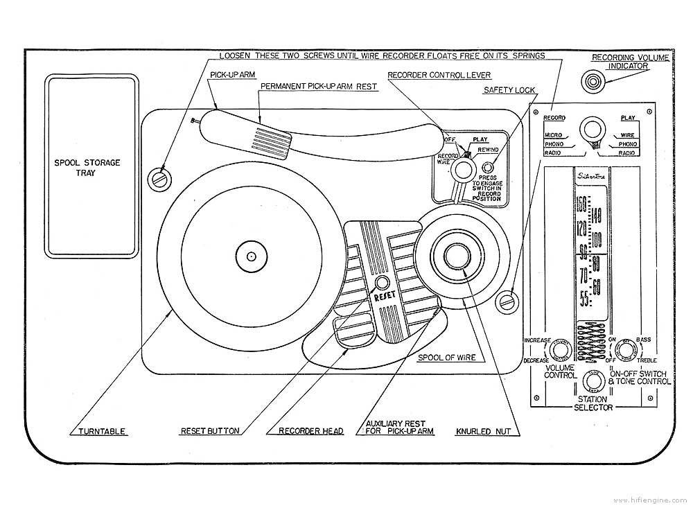 Wire Recorder Schematic