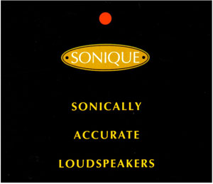Sonique Sonically Accurate Loudspeakers