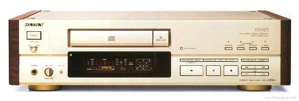 sony cdp x559es   manual   stereo compact disc player