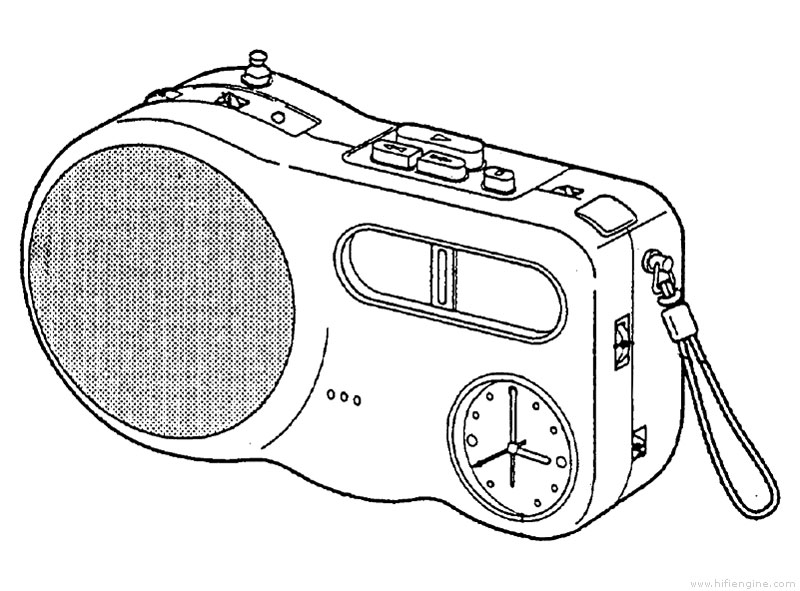 Sony Radio Drawing