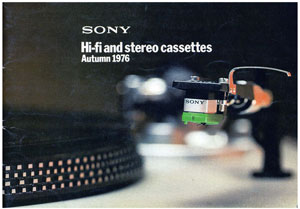 Sony HiFi and Stereo Cassettes