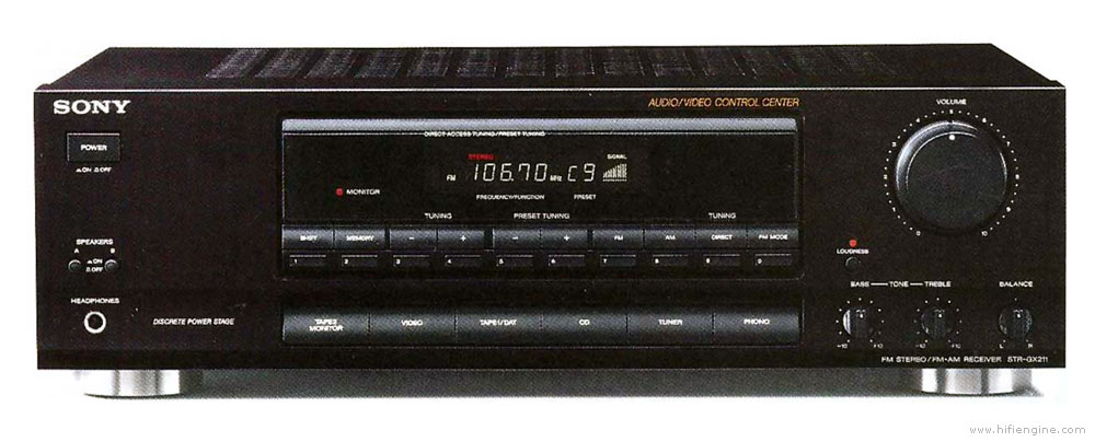 sony str gx211 manual am fm stereo receiver hifi engine rh hifiengine com Sony Home Stereo Sony Car Stereo