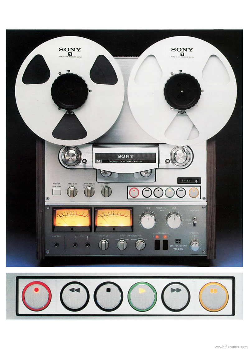 Sony Tc 765 Manual 4 Track 2 Channel Stereo Reel To