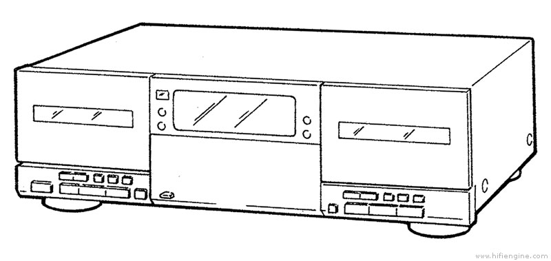 sony tc-wr890 - manual - double stereo cassette deck