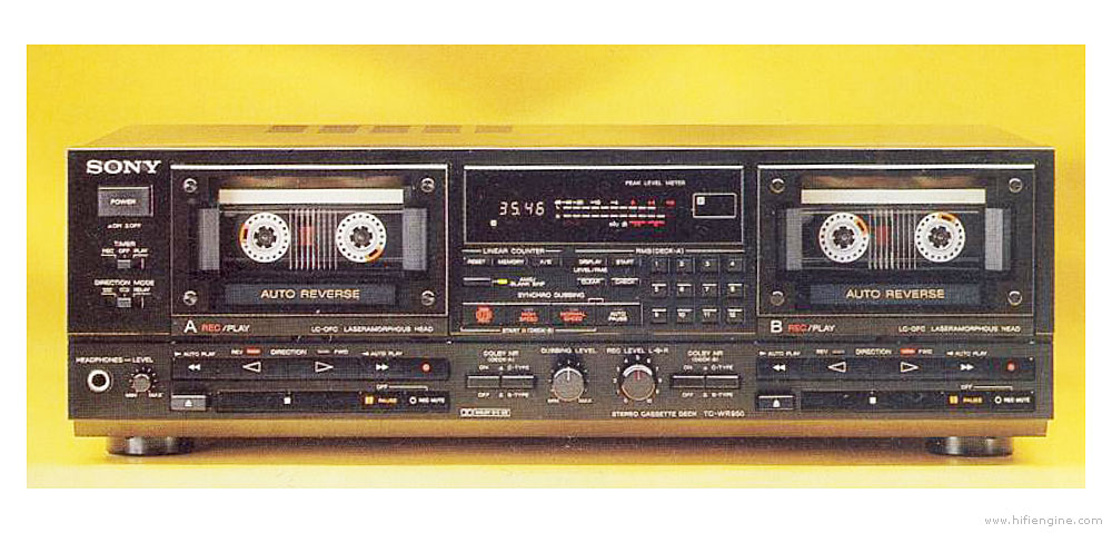 Sony Tc-wr950 - Manual - Double Cassette Deck