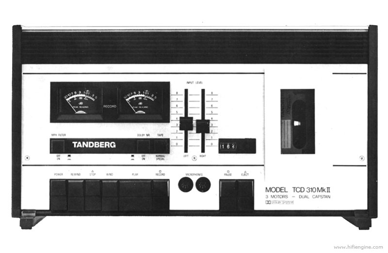 Tandberg Tcd 310 Manual Stereo Cassette Deck Hifi Engine