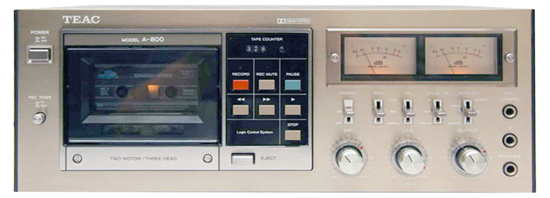 Teac A 800 Manual Stereo Cassette Deck With Dolby