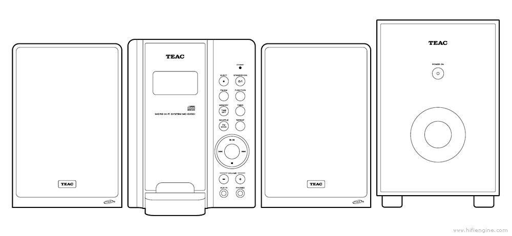 TEAC MC-DX50i - Manual - Micro HiFi System - HiFi Engine