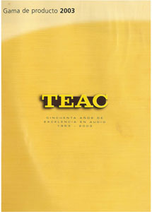 TEAC Products 2003