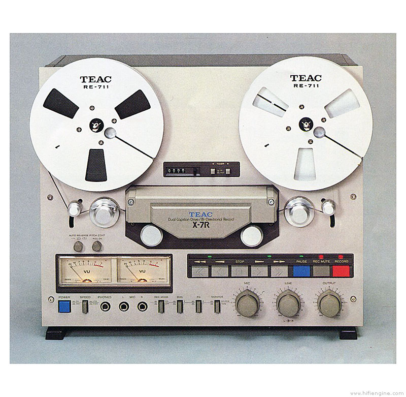 Teac X-7r - Manual - Auto Reverse Stereo Tape Deck