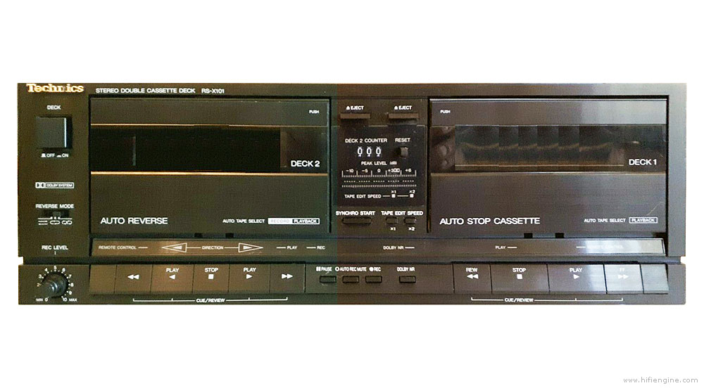 Technics Rs X101 Manual Double Cassette Deck Hifi Engine