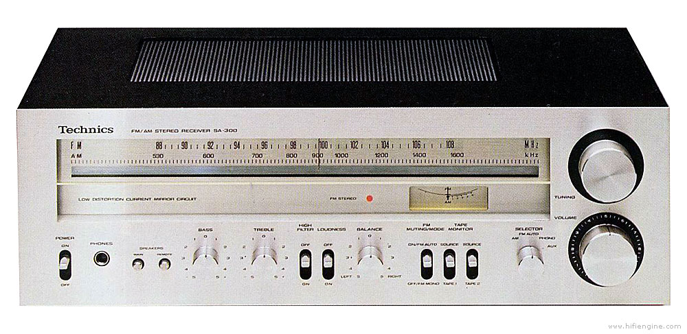 Technics SA-300 - Manual - AM/FM Stereo Receiver - HiFi Engine