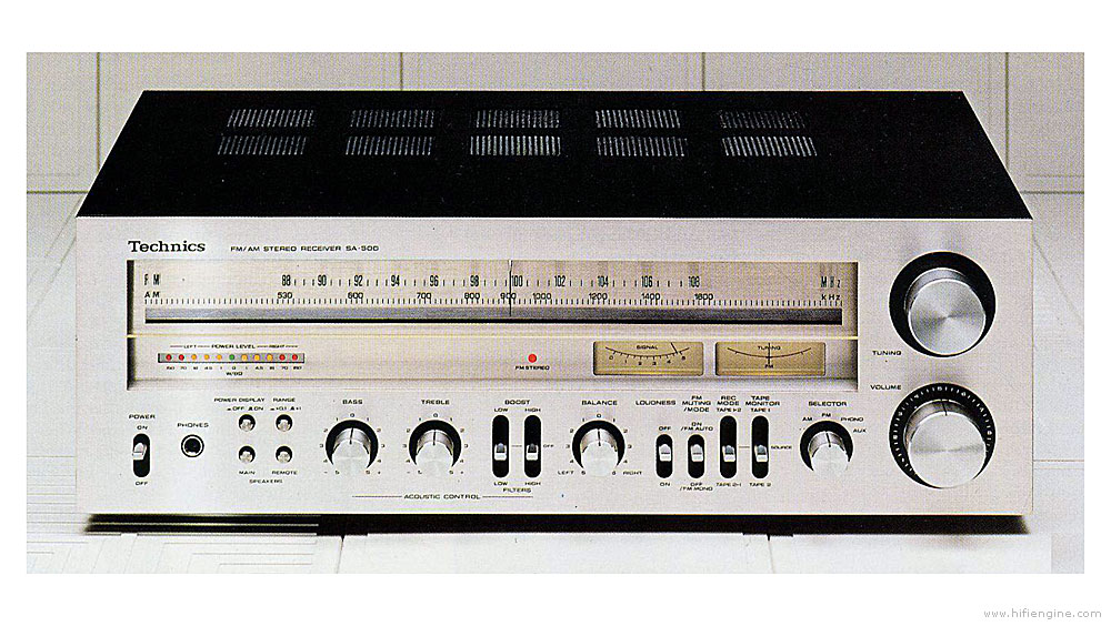 technics_sa-500_front_panel Wiring Amplifier on