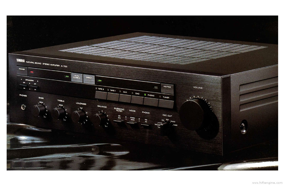 Yamaha A-700 - Manual - Stereo Integrated Amplifier