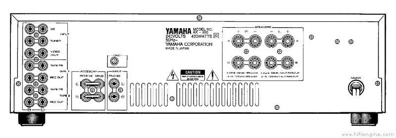 yamaha ax-530 - manual